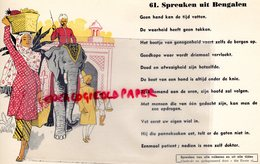 BUVARD ELEPHANT -  PROVERBE MALAISIE- SPREUKEN UIT BENGALEN-BENGALE - RARE BUVARD RIGIDE - Animals