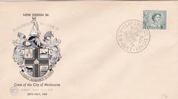 Australia 1959 Queen Elizabeth II,3d Green WCS FDC - FDC