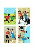 Hergé Feuillet De 4 Autocollants Tintin (+ Quick Et Flupke) - Autocollants
