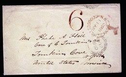 A5612) UK Cover Hillsborough 05/11/60 To New York / US Over New-Brunswic / CA - 1840-1901 (Viktoria)
