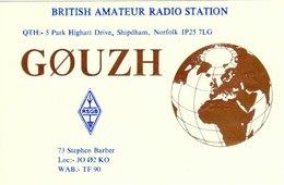 Amateur Radio QSL Card G0UZH Barber Shipdham Norfolk 1996 GØUZH - Radio Amateur