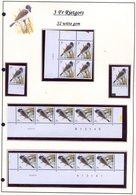 Belgie 2425 S2 Buzin Vogels Birds Feuille De Collection Numéro De Planche Plaatnummer Drukdatum - 1985-.. Pájaros (Buzin)