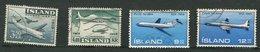 Islande Ob PA 30 à 33 - Airmail