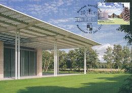 D34837 CARTE MAXIMUM CARD RR TRIPLE FD 2017 NETHERLANDS - EXTERIOR MODERN ART MUSEUM VOORLINDEN WASSENAAR CP ORIGINAL - Museums