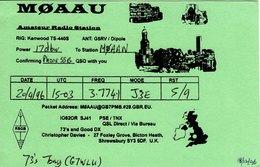 Amateur Radio QSL Card M0AAU Davies Bicton Heath Shrewsbury 1996 MØAAU - Radio Amateur