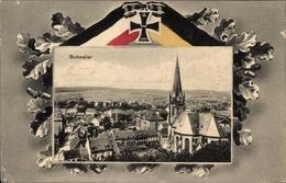 Passepartout Cp Dudweiler Saarbrücken Im Saarland, Blick Auf Stadt Und Kirche, Eisernes Kreuz - Other