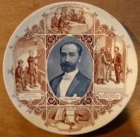 ASSIETTE SADI CARNOT PRESIDENT DE LA REPUBLIQUE ORGANISE LA DEFENSE JANVIER 1871 A L'ECOLE POLYTECHNIQUE / SARREGUEMINES - Sarreguemines (FRA)