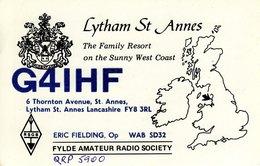 Amateur Radio QSL Card G4IHF Lytham St Annes Fielding Fylde Family Resort Sunny - Radio Amateur
