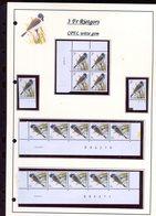 Belgie 2425 CPFL Buzin Vogels Birds Feuille De Collection Numéro De Planche Plaatnummer Drukdatum - 1985-.. Pájaros (Buzin)