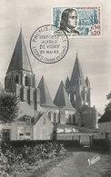 D34840 CARTE MAXIMUM CARD FD 1963 FRANCE - LOCHES CHURCH SAINT-OURS CP ORIGINAL - Eglises Et Cathédrales