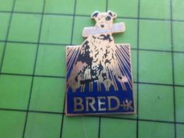 1218B Pin's Pins / Rare Et De Belle Qualité / BANQUES : CHIEN AVEC UN JOURNAL DANS LA GUEULE BRED - Banken