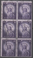 UNITED STATES     SCOTT NO  1035A      USED      YEAR  1954  BOOKLET PANE - Gebruikt