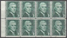 UNITED STATES     SCOTT NO  1278A     USED      YEAR  1965    BOOKLET PANE - Gebruikt