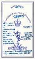 Amateur Radio QSL Card G0SWY Royal Signals Soc Southampton 1996 GØSWY Mercury - Radio Amateur