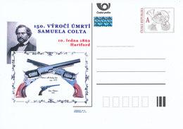 Rep. Ceca / Cart. Postali (Pre2012/05) Samuel Colt (1814-1862) Inventore E Industriale Americano, 150 ° Ann. Della Morte - Fabbriche E Imprese