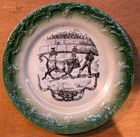 ASSIETTE CORRIDA COURSE DE TAUREAUX TAUREAU TOREADOR ARENE / VOIR AU DOS DE L'ASSIETTE - Ceramics & Pottery