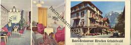 Schweiz - Grindelwald - Hotel-Restaurant Hirschen 50er Jahre - Faltkarte Visitenkartengröße - Reiseprospekte