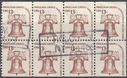 UNITED STATES     SCOTT NO  1595C    USED      YEAR  1975    BOOKLET PANE - Gebruikt