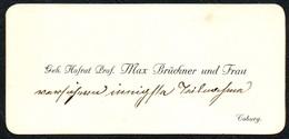 B6454 - Coburg - Hofrat Prof. Max Brückner - Visitenkarte - Visitenkarten