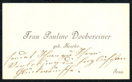 B6455 - Jena - Frau Pauline Doebereiner Döbereiner Geb. Kessler - Visitenkarte - Cartes De Visite