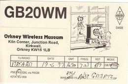 Amateur Radio QSL Card GB2OWM Orkney Wireless Musem Kirkwall 1997 - Radio Amateur