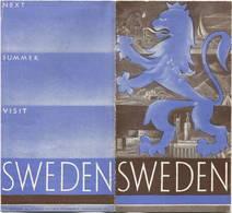 Schweden - Sweden - Faltblatt In Postkartengrösse Mit 10 Abbildungen - Reiseprospekte