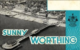 Amateur Radio Blank QSL Card Sunny Worthing Pier Unused - Radio Amateur