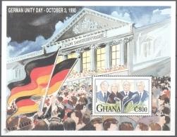 Ghana 1991 Yvert BF 178, German Unity Day - Miniature Sheet - MNH - Ghana (1957-...)