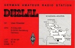 German Amateur Radio QSL Card DH2LAL Rendsburg Germany Dowidat 1996 - Radio Amateur