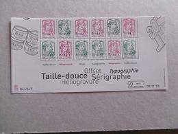 FRANCE   2013  F4774B * *   MARIANNE DE LA JEUNESSE  BAS DE FEUILLE - Blokken En Velletjes