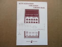 """Hewlett Packard """"HP"""" / Caltulateur De Poche HP-38E / Actualisation Location Crédit-bail - Vieux Papiers"""