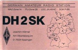 German Amateur Radio QSL Card DH2SK Eppingen Germany Kolmel 1998 - Radio Amateur