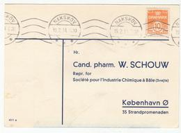 """Denmark 1934 Pharmacy Brevkort Bestillingskort Coramin """"Ciba"""" B180901 - Postal Stationery"""
