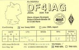 German Amateur Radio QSL Card DF4IAG Horb Germany Grutzeck 1996 - Radio Amateur