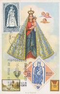 D34866 CARTE MAXIMUM CARD 1966 BRAZIL - 1967 BELGIUM - TWO STAMPS RELIGION MADONNA CP ORIGINAL - Religieux