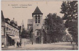 92 - B13214CPA - CLICHY - Ancienne église, Le Boulevard National - Parfait état - HAUTS-DE-SEINE - Clichy