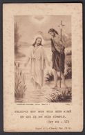 St Jean Baptiste Et Jesus Image Pieuse Religieuse Holy Card Santini - Santini