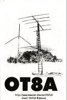 Belgian Amateur Radio QSL Card OT8A Wichelen Belgium 1998 Wael - Radio Amateur