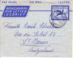 AEROGRAMME POUR LA SUISSE - ST-IMIER - 1954 - Poste Aérienne