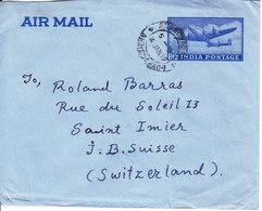 AEROGRAMME POUR LA SUISSE - ST-IMIER - 1959 - 1950-59 République