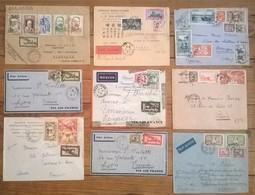 Lot De 9 Enveloppes & Timbres INDOCHINE - Non Classés