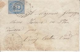 LETTRE DE 1879 POUR LA SUISSE - VEVEY - DIVERS CACHETS AU DOS - Used