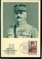 CM-Carte Maximum Card # 1956-FRANCE # Célebrités #Histoire #Guerre # Maréchal Franchet D´Esperey # Paris - Maximumkarten
