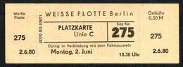 B6477 - Weisse Flotte Berlin - Fahrschein Fahrkarte Ticket - Billets D'embarquement De Bateau