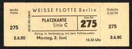 B6477 - Weisse Flotte Berlin - Fahrschein Fahrkarte Ticket - Europa