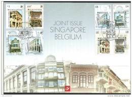 Herdenkingskaart - Carte-souvenir Singapore  3426 HK (cob ) Cote  : 8.00 Euro - Souvenir Cards