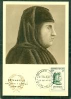 CM-Carte Maximum Card # 1956-FRANCE #Célébrités # Pétrarque,Poète Italien ,historien,archéologue # Fontaine  De Vaucluse - Maximumkarten