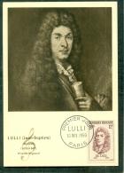 CM-Carte Maximum Card # 1956-FRANCE #Célébrités # Musique # Lulli, Compositeur,Komponist,composer # Paris - Maximumkarten