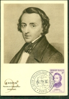 CM-Carte Maximum Card # 1956-FRANCE #Célébrités # Musique # Frédéric CHOPIN, Pianiste ,Compositeur,Komponist # Paris - Maximumkarten