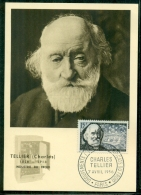 CM-Carte Maximum Card # 1956-FRANCE  # Industrie #  Charles Tellier, Ingenieur,engineer # Industrie Du Froid ,obl. Paris - Maximumkarten